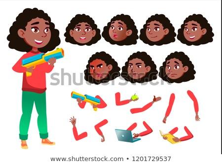 tienermeisje · vector · tiener · vriendelijk · cheer · gezicht - stockfoto © pikepicture