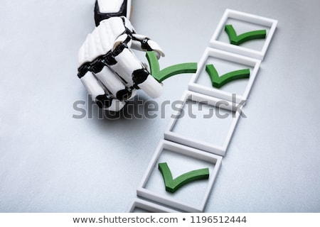 Robot Placing Check Mark In Box Stock photo © AndreyPopov