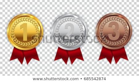Primeiro lugar vencedor coleção adesivos decorado Foto stock © robuart