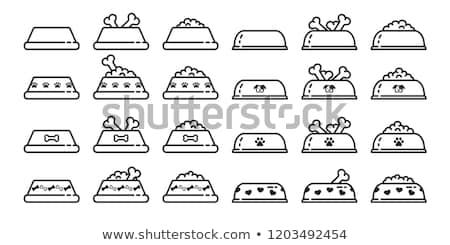 漫画 ハスキー 食品 実例 ボウル 笑みを浮かべて ストックフォト © cthoman