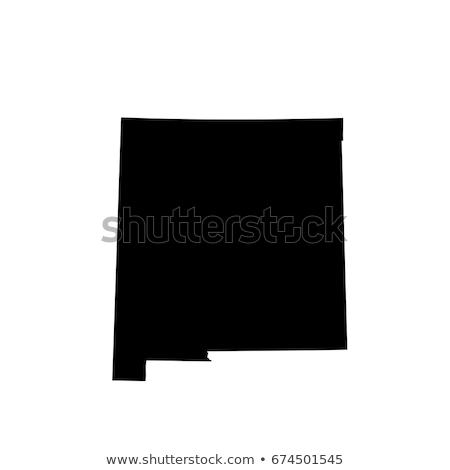 Нью-Мексико вектора карта силуэта изолированный белый Сток-фото © kyryloff