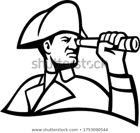 British Admiral With Telescope Mascot Stock photo © patrimonio