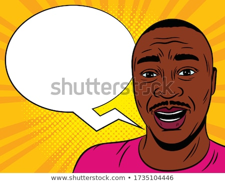 Portrait of a shocked young afro american man Stock photo © deandrobot