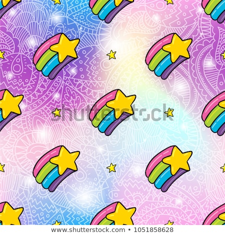Creative seamless vector pattern with the colors of the LGBT pride flag. Rainbow stripes Stock photo © Pravokrugulnik