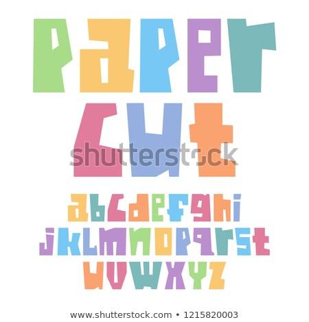 Kâğıt kesmek düşük durum pastel Stok fotoğraf © Ecelop