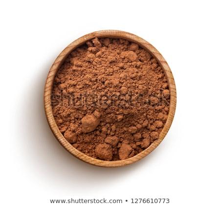 Cacao polvere ciotola raccogliere bianco texture Foto d'archivio © bdspn