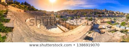 ancient rocks at roman theatre stock photo © hofmeester