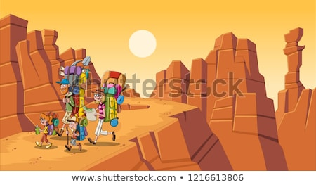 Boy and girl scout at desert Stock photo © bluering