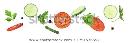 新鮮な 緑 パセリ 孤立した 白 食品 ストックフォト © szefei