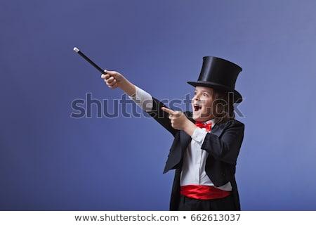 Gyermek bűvész izgatott rajz illusztráció fiú Stock fotó © cthoman