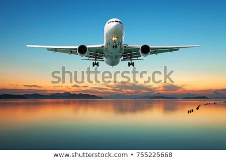ジェット 平面 飛行 海 実例 自然 ストックフォト © colematt