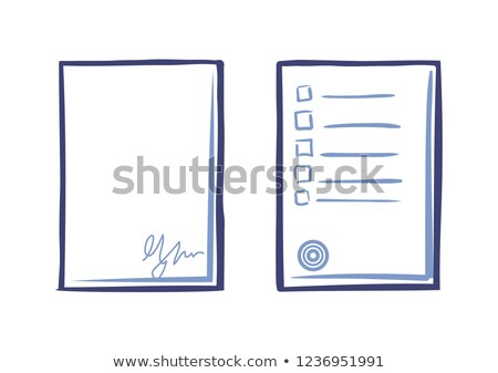 Empty Sheet of Paper with Signature and Tips List Stock photo © robuart