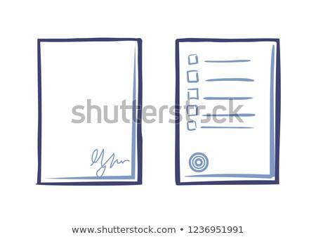 пусто лист бумаги подписи чаевые список Сток-фото © robuart