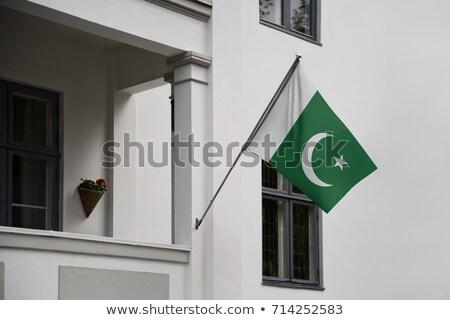 Ház zászló Pakisztán csetepaté fehér házak Stock fotó © MikhailMishchenko