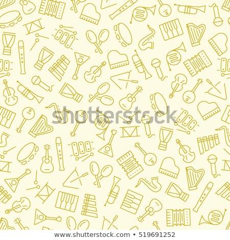 tubo · chave · inglesa · padrão · vetor · arte · ilustração - foto stock © netkov1