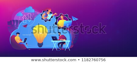 colaboração · bandeira · equipe · de · negócios · idéia - foto stock © rastudio