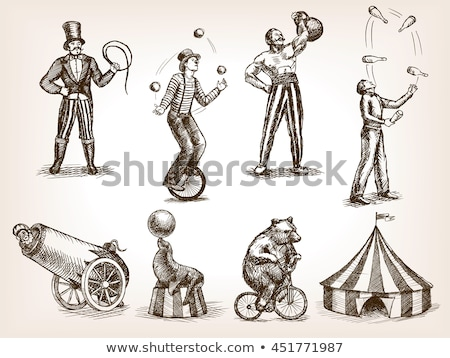 Circus set with rides and tent Stock photo © colematt