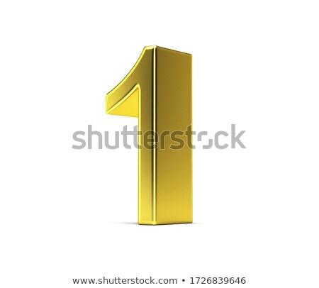 Number one on white background. Isolated 3D illustration Stock photo © ISerg