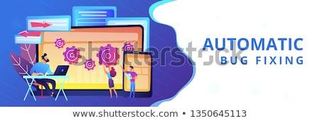 Cross platform bug founding concept banner header. Stock photo © RAStudio