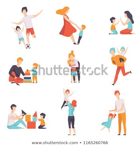 set of kids playing stock photo © bluering