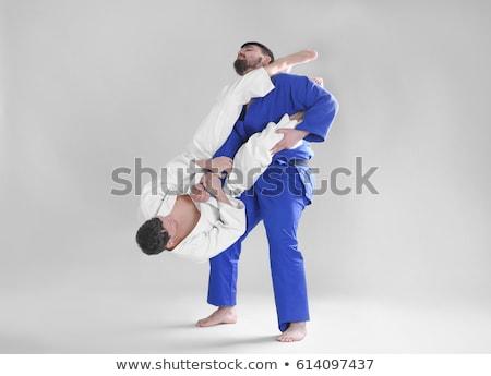 Jiu-Jitsu athletes fighting Stock photo © jossdiim