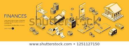 Audit service concept landing page. Stock photo © RAStudio