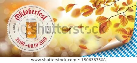 пива каботажное судно осень листва Октоберфест Сток-фото © limbi007