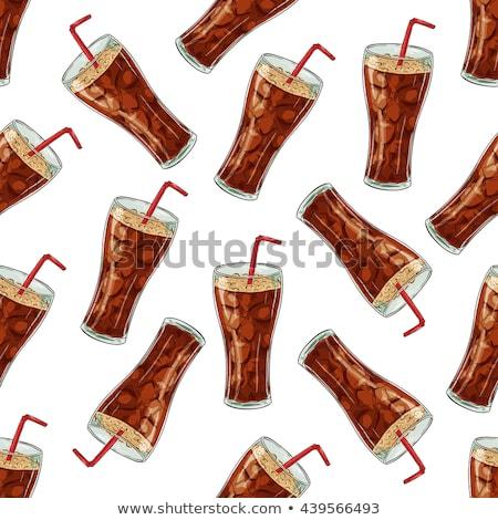 Cola tasse couleur vecteur fond Photo stock © netkov1