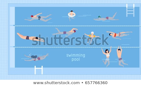 Breaststroke Water Sport Woman Vector Illustration Stock photo © robuart