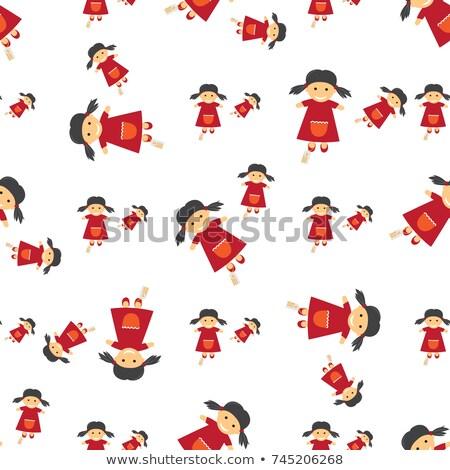 Bezszwowy włókienniczych pełny lalek cena Zdjęcia stock © robuart