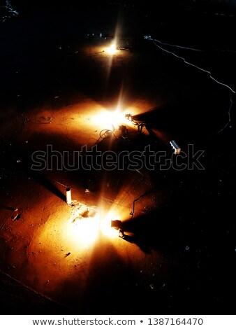 Fotós kezek régi fényképezőgép éjszaka szín elmosódott Stock fotó © wavebreak_media
