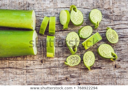 szokatlan · ázsiai · ehető · növény · bent · eszik - stock fotó © galitskaya