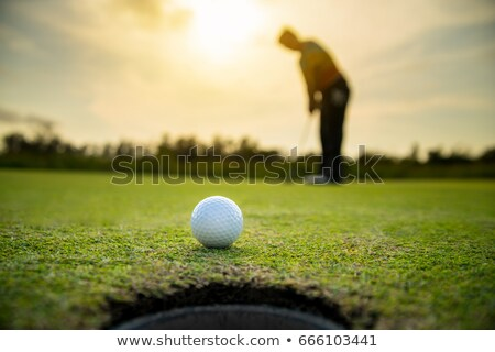 Close-up of golfer putting Stock photo © lichtmeister