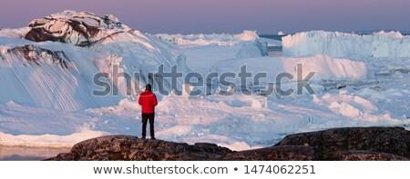 Travel wanderlust in arctic landscape nature with icebergs - Greenland tourist Stock photo © Maridav