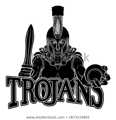 Espartano troiano gladiador tênis guerreiro mulher Foto stock © Krisdog