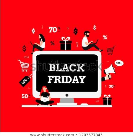 Isometric Illustration of Online Black Friday Sale Stock photo © artisticco