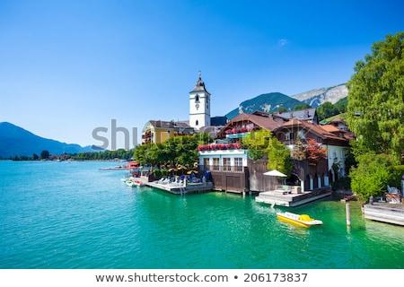 Ver Áustria lago cidade montanha viajar Foto stock © borisb17