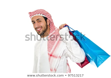arab man with shopping bags on white stock photo © elnur
