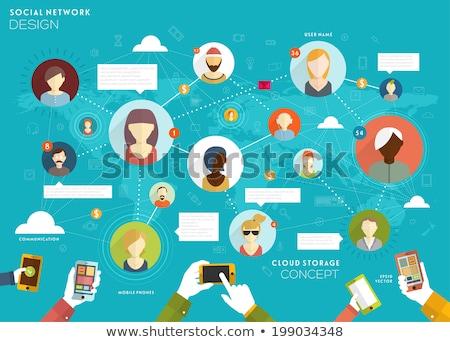 Ludzi komunikacji telefonu linki wektora związku Zdjęcia stock © robuart