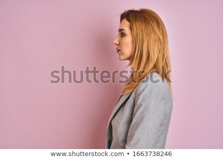 単純な スーツ ビジネス ポーズ 小さな ビジネス女性 ストックフォト © toyotoyo