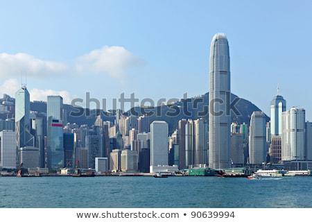 Гонконг порта рабочих судоходства транспорт Сток-фото © vichie81