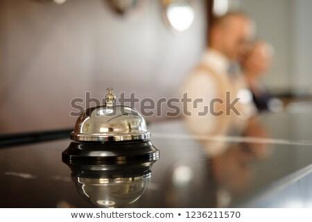 консьерж колокола символ красный Сток-фото © AndreyPopov