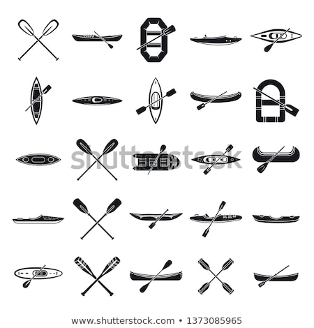 Boat Rowing Competition Canoeing Icon Vector Illustration Stock photo © pikepicture