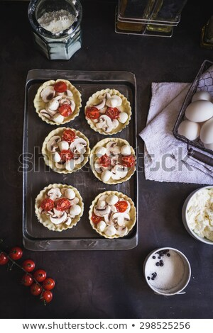 Mini tomates cherry mozzarella queso superior Foto stock © Illia