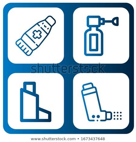 Ear spray icon. Pharmacy and medicine vector illustration Stock photo © Imaagio