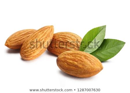 Almonds with leaves Stock photo © Masha