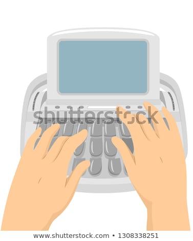 Handen rechter machine illustratie typen Stockfoto © lenm
