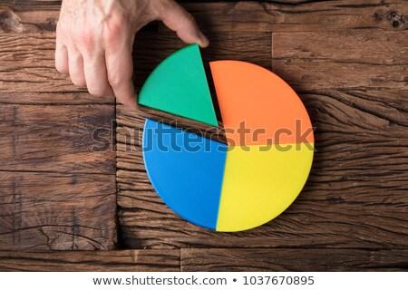 Laatste stuk cirkeldiagram Stockfoto © AndreyPopov