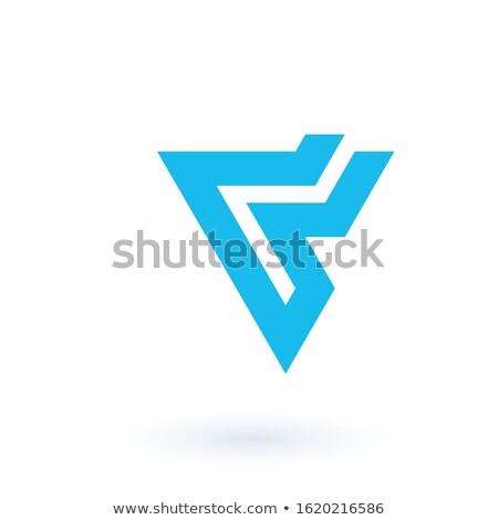 Geometric lightning logo icon design template element. Business identity tech element. Stock Vector  Stock photo © kyryloff
