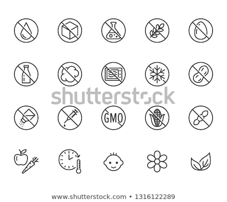 Allergen Free Spice Salt Vector Thin Line Icon Stock photo © pikepicture